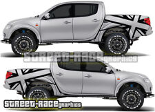 Mitsubishi L200 041 rear tub stickers decals graphics Union jack