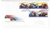 "2004 FDC Australia. Motorcycle Grand Prix Racing. ""Helmet"" PictFDI ""COWES"""