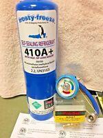 410A, R410a, R-410a, Refrigerant LEAK STOP Gauge Charging Hose & Instructions