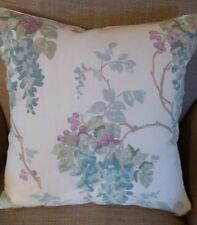 REVERSIBLE Laura Ashley Wisteria Pistachio Green/Duck Egg Fabric Cushion Cover