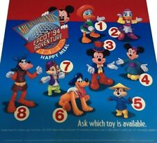 MCDONALDS & DISNEY EPCOT HAPPY MEAL TOYS FULL SET OF 8 FROM 1994 IN PACKAGE