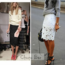 Knee-Length Cotton Blend Dry-clean Only Skirts for Women