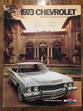 1973 Chevrolet Caprice/Impala/BelAir Original Dealers Sales Brochure See the USA