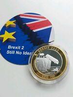 BREXIT COIN LIKE 50P £2 DESIGN BORIS NHS BUS NO IDEA 2