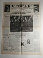 N323 La Une Du Journal Le petit bleu 1 février 1933 actes d'hitler château doorn