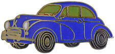 Morris Minor saloon car cut out lapel pin -  Bkue body