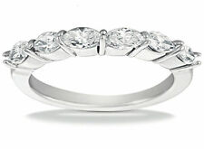 1.35 ct 6 Marquise Cut Diamond Wedding Ring Anniversary Band, G VS, 0.22 each