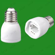 40x Edison Screw ES E27 To G24 Light Bulb Adaptor Lamp Socket Converter Holder