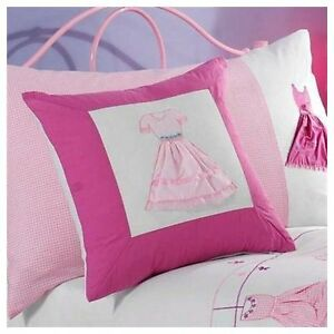 """Pair of Molly Girl's Pink Cushion Covers 40cms / 16"""" sq- Ideal for Girls Bedroom"""