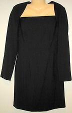HUGO BUSCATI COLLECTION - LADIES MEDIUM  -BLACK LONG SLEEVES  VERSATILE DRESS