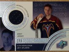 2001 UPPER DECK SPX ROOKIE THREADS ILYA KOVALCHUK  #697/800