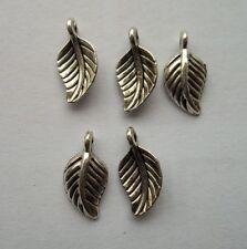 50 pcs Tibetan silver leaves charm pendant 14x7 mm