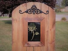 Rose Bud Steel Insert Window for Wood Gate, Rose Gate, Rose Decoration