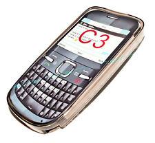 Silikon TPU Handy Cover Case Hülle Kappe Schale Schutz in Smoke für Nokia C3