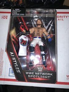 WWE Mattel Elite TRU Network Spotlight AJ Styles MOC