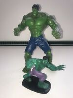 "Hasbro Marvel Avengers 2008 10"" Posable Figure & 4"" 2012 Incredible Hulk VGC"