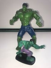 "Marvel Avengers - Hasbro 2008 10"" Hulk Posable Figure & 4"" 2012 Incredible Hulk"