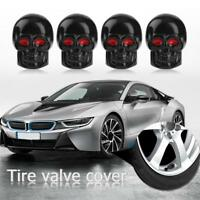 4pcs Universal Black Skull Car Wheel Tire Tyre Valve Stem Caps Dust Covers New