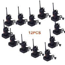12PCS Baofeng BF-888S Walkie-Talkie UHF 400-470MHz + auricular 16 canal Radio 5W