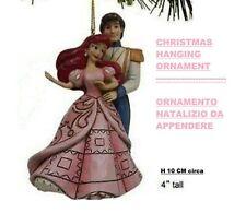 Jim Shore ARIEL & ERIC CHRISTMAS HANGING ORNAMENT Disney Traditions A28962