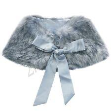 Girl Faux Fur Shawl Wrap Shrug Jacket Bolero Coat Cloak Cape Princess Costume