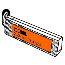 JuBaTec LiPo Akku 2S mit 7,4 Volt und verschiedenen Kapazitäten und C-Raten