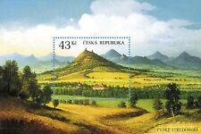 Czech stamp sheet - The České středohoří uplands - tertiary volcanic region 2009