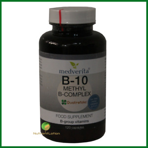 Medverita B-10 methylated B-complex 120 capsules