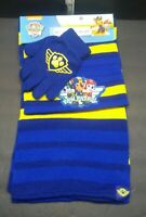 BRAND NEW NICKELODEON PAW PATROL BOYS HAT GLOVE SCARF SET WINTER CHASE MARSHALL