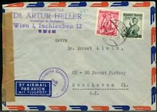 AUSTRIA VIENNA 1953 MILITARY CENSORED  COVER TO WOODHAVEN NY