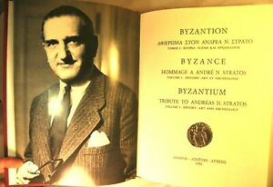 BYZANCE HOMMAGE ANDRE STRATOS HISTOIRE ARCHEOLOGIE THEOLOGIE PHILOLOGIE GRECE