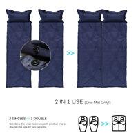 Sleeping Pad Camping Mat Inflatable Tent Mattress Outdoor Picnic w/ Pillow T7V0