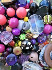 1kg PLASTIC BEADS MIX MULTI-COLOUR ASSORTMENT CRAFTS JEWELLERY MAKING WHOLESALE