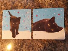Black kitten 1ST noël luxe cartes de noël lot de 10 gc 39