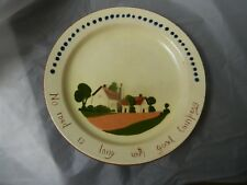 """Motto Ware Plate """"No road is long...""""  WATCOMBE 8.25"""""""