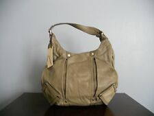 RARE! MSRP $434 JUNIOR DRAKE 'BETHANY' OLIVE LEATHER HOBO SATCHEL PURSE TOTE BAG