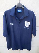 Polo football ANGELETERRE ENGLAND UMBRO vintage shirt jersey S bleu marine