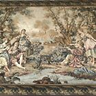Beautiful Large Tapestry - Romantic chateau garden Scene approx 77.95 inch wide