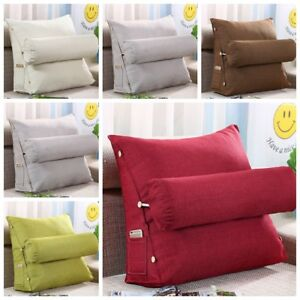 Adjustable Back Pillow Sofa Bed Cotton Chair Rest Neck Support Wedge Cushion J1
