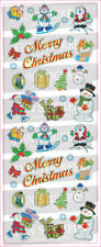 """BEAUTIFUL FUN STICKERS """" XMAS CHARACTERS """" FOR CARDS & CRAFT"""