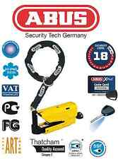 ABUS BLOCCA DISCO GRANIT DETECTO 8077 + CATENA 12 KS LOOP DUCATI Monster 821 ABS