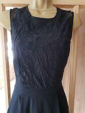 Vestido negro de encaje sin mangas SKATER WAREHOUSE justo por encima de rodilla Eve/cóctel 10-12