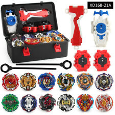 12PCS Beyblade Burst Booster Tops Set with Launcher + Storage Box Kids Gift