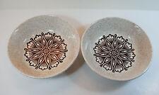 2 Vintage 1970's Biltons Tableware Cereal/Soup Bowls - Geometric Floral Pattern