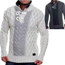 Grobe Herren-Pullover & -Strickware mit Druckknöpfen