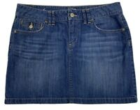 Loft Ann Taylor Denim Blue Jean Short Skirt Women's Size 6 Front Back Pockets