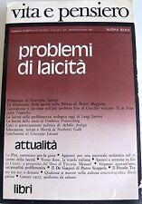 PROBLEMI DI LAICITÀ VITA E PENSIERO 1977 (NUMERO 5/6, ANNO LX )