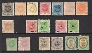 MACAU CHINA PORTUGUESE COLONIES 1884-1913 collection inc scarce stamps