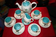 Grindley Pottery Vintage Rare 1950's Dorchester Dandelion Seed Heads Coffee Set