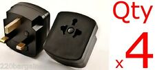Plug Adapter 4PK - US EU To UK Ireland UAE 3 Prong Plug Adaptor Type D